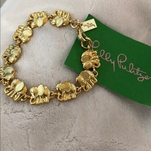 Brand new with tag Lilly gold elephant bracelet